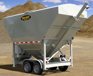 The SI-LOW can store up to 200 barrels of cement, and is designed to meet legal height and width boundaries for towing.