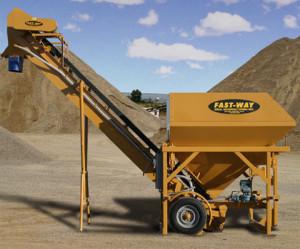 The Fast-Way portable concrete batch plant.